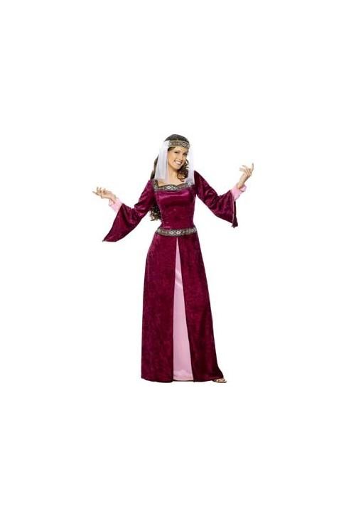 Déguisement Princesse médiévale pourpre