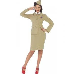 Déguisement femme officier - Années 40-45