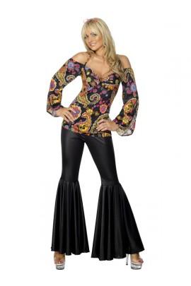 Déguisement Hippie pantalon noir