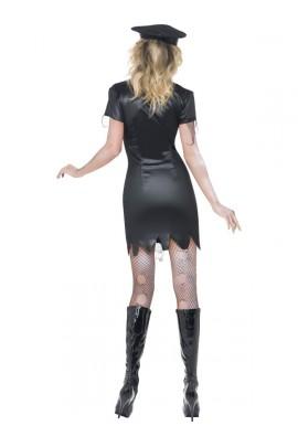 Déguisement femme policier zombie sexy