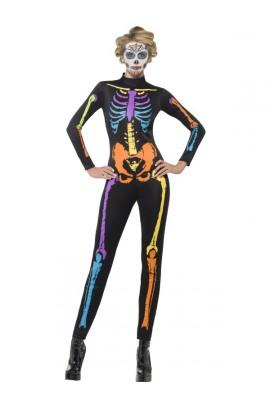 Déguisement Combinaison Squelette fluo - Halloween