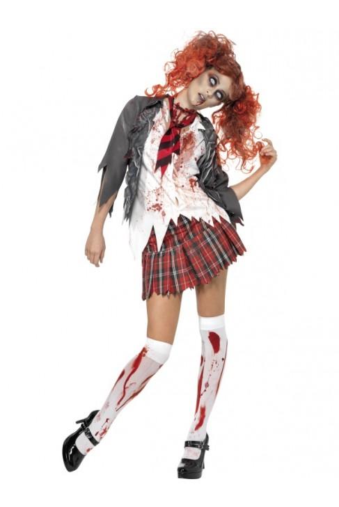 Déguisement d'écolière zombie
