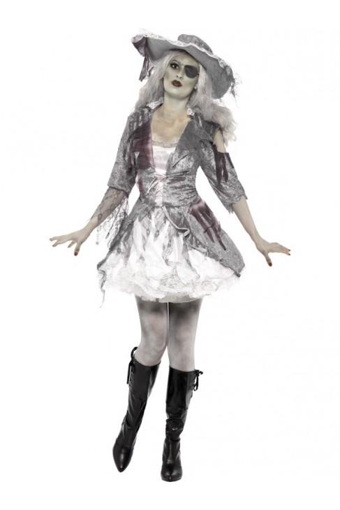 Déguisement femme pirate zombie -  Halloween