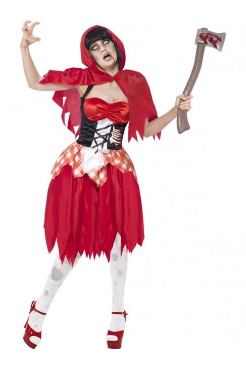Déguisement Chaperon rouge zombie