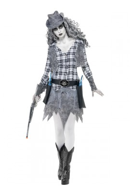 Déguisement Cowboy fantôme femme