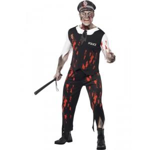 Déguisement homme policier zombie -  Halloween