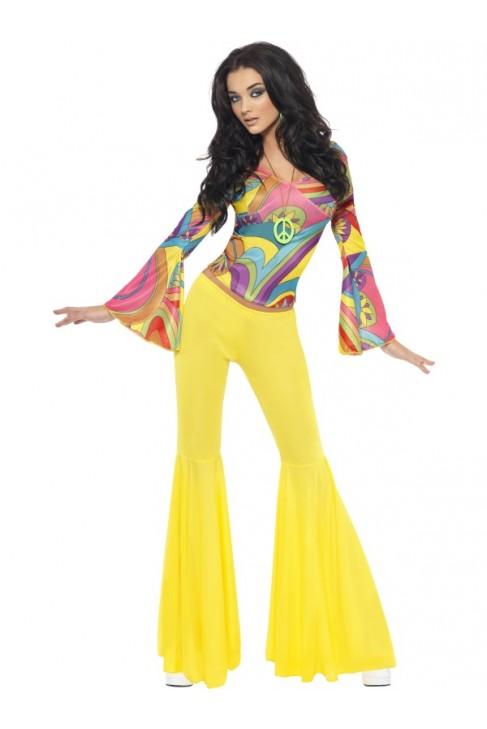Déguisement Hippie pantalon jaune