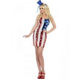 Déguisement Robe Miss América