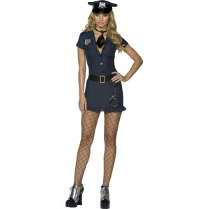 Déguisement femme Policier sexy bleu