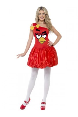 Déguisement femme Angry Birds rouge