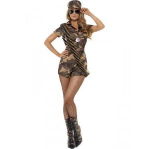 Déguisement femme soldat sexy