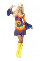 Déguisement Hippie arc en ciel femme