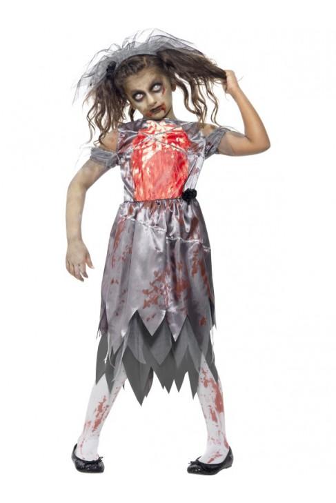 Déguisement Mariée zombie enfant