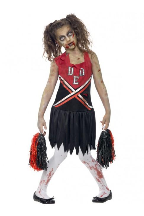 Déguisement Pom Pom girl zombie enfant