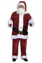 Déguisement Père Noël US velours