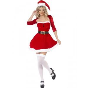 Déguisement Miss Santa rouge