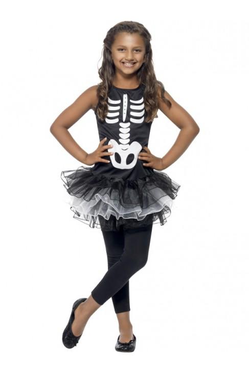 Deguisement de robe tutu squelette