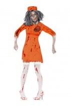 Déguisement  femme zombie couloir de la mort