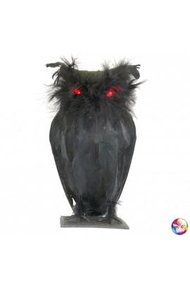Chouette noire - Déco Halloween