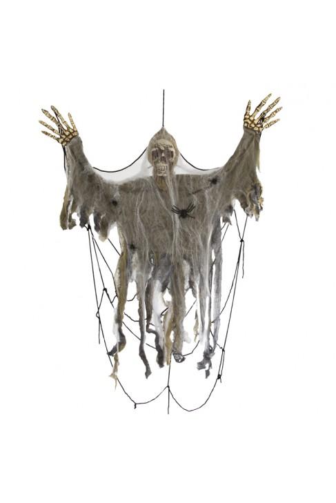 Victime toile d'araignée - Décoration Halloween