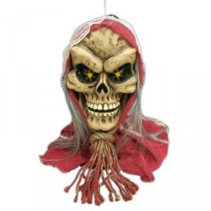 Tête de mort son et lumière - Décoration Halloween