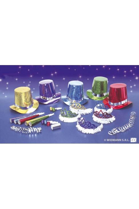 Kit cotillons hologramme diamant - 10 personnes - Nouvel An