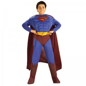 Costume licence superman avec muscles