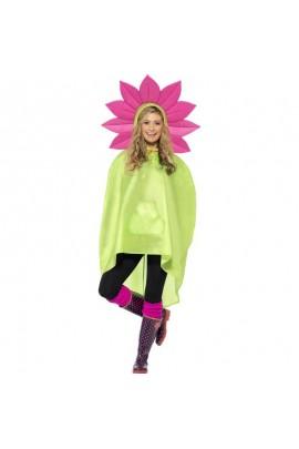 Poncho party fleur IMPERMEABLE
