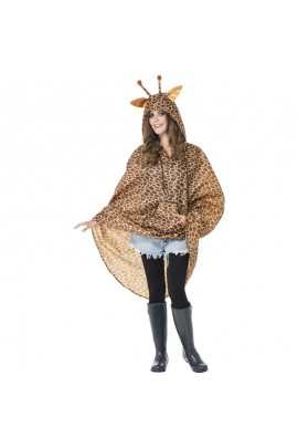 Poncho party girafe IMPERMEABLE