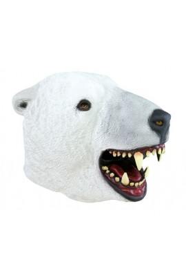 Masque tête d'ours polaire
