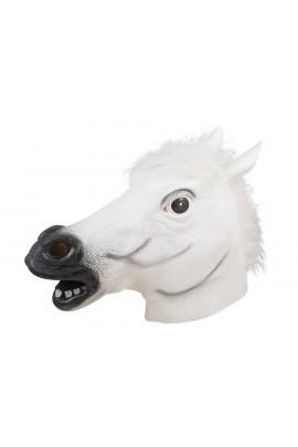 Masque tête de cheval blanc