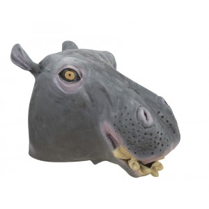 Masque tête d'hippopotame