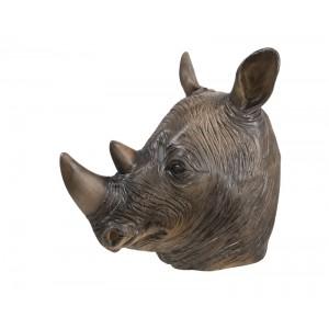 Masque tête de rhinocéros