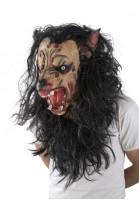 Masque tête de loup garou poils et barbe