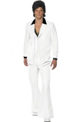 Déguisement Costume Dancefloor disco années 60-70 blanc
